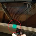 ピアノの雑音を防止するためのフェルト